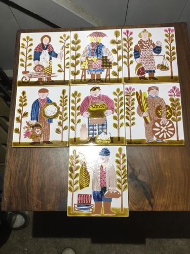 Vintage ceramic tiles for sale
