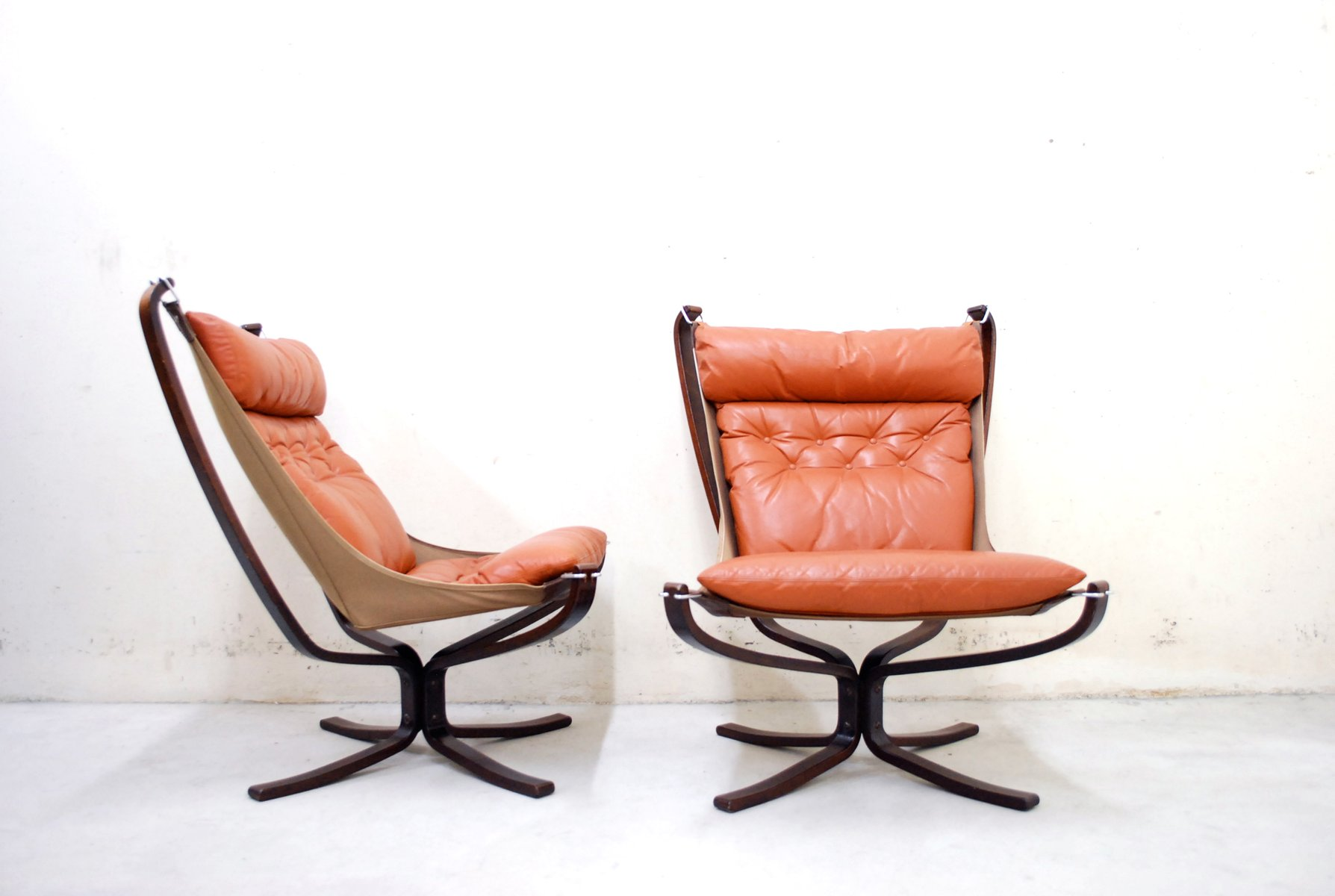 Leather Lounge Chair Baxton Studio Nikko Mid Century