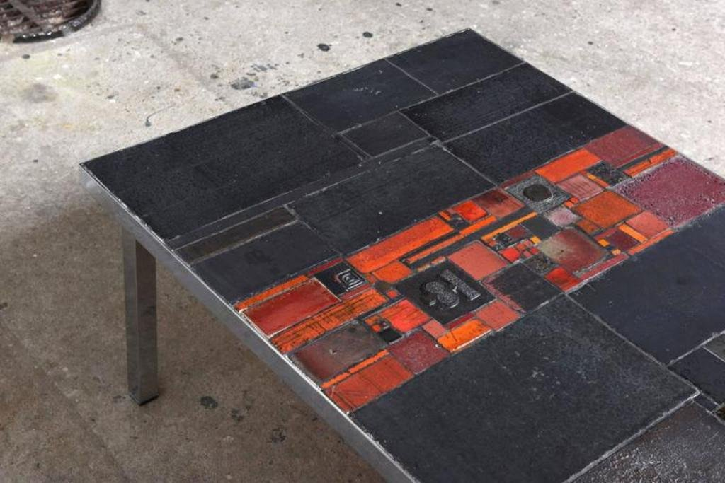 Ceramic tile table