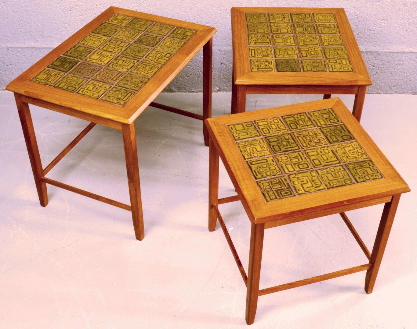 Ceramic tile tables
