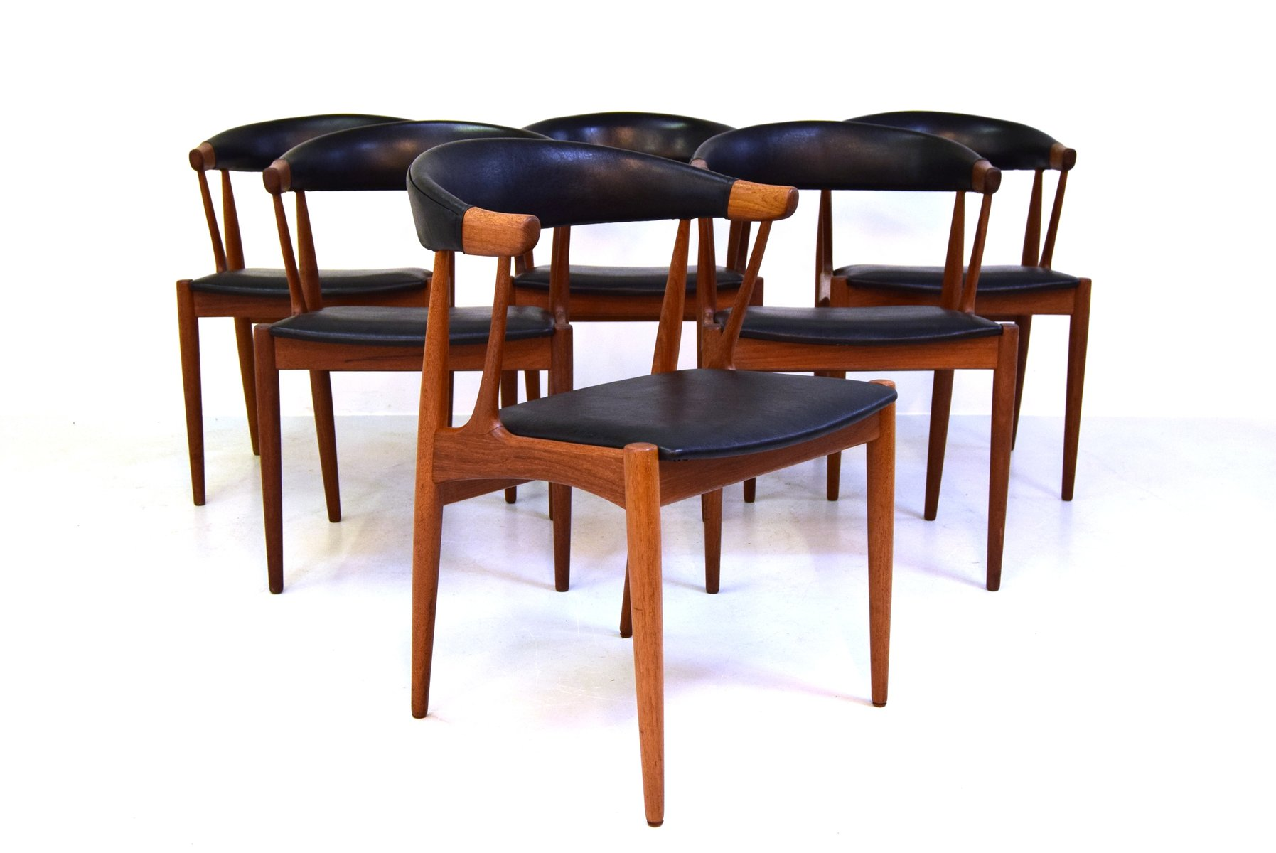Model Ba 113 Dining Chairs By Brdr Johannes Andersen For Andersens Møbelfabrik Set Of 6