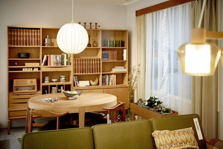 Kolding Sofa, MTP Storage System, and Danske Dining Chair in laquered oak; some of the matching furniture available in the 1960s