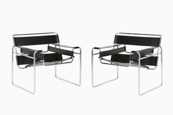 wassily chairs by marcel breuer for gavina 1960s set of 2