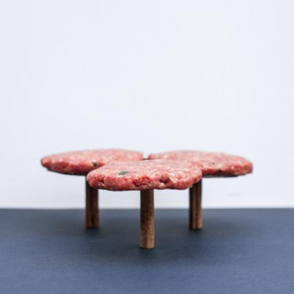 Coffee Table with Three Circular Tops