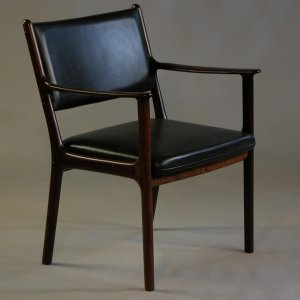 Mid century pj412 armchair by ole wanscher p jeppesen for for P jeppesen furniture