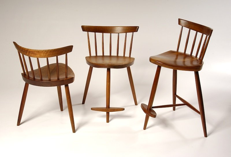 Exceptional Mira Chairs, Courtesy Of George Nakashima Woodworker, S.A