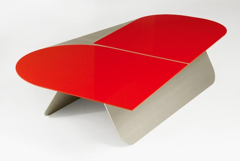 Pierre charpin - Petite table basse rouge ...