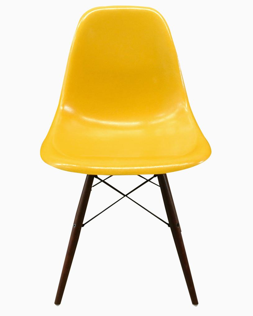 yellow dsw chair by charles ray eames 1950s. Black Bedroom Furniture Sets. Home Design Ideas