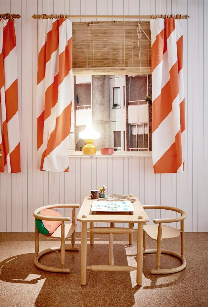 Anna Childrens Furniture Designed By Otto Nielsen; Ilex Curtains Designed  By Sven Fristedt