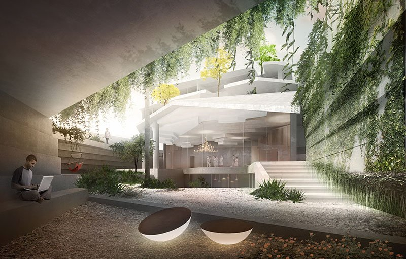 the FENCE house in Riyadh; for which theOtherDada attempted to blend the fence into the existing landscape