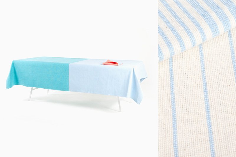 Oaxaca Facades Table Linens Set by Diario, courtesy of the designer and L'ArcoBaleno