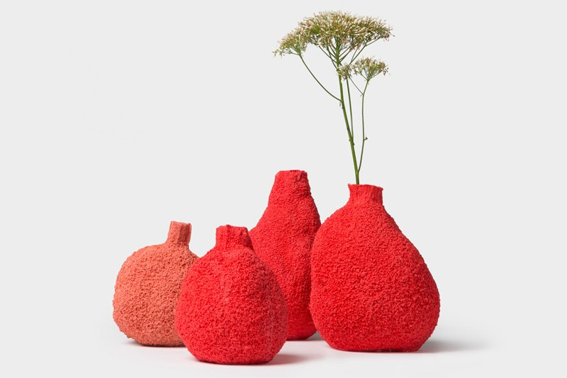 Coral vases by Michal Fargo, courtesy of the designer and L'ArcoBaleno