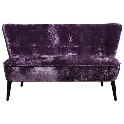 Zwei-Sitzer Sofa aus Lila Samt, 1960 bei Pamono kaufen