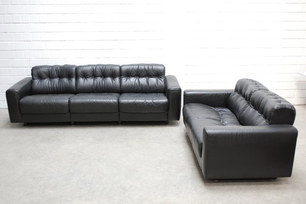 DS-40 Leather Living Room Set from De Sede for sale at Pamono