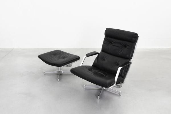 Fk85 Lounge Chair U0026 Ottoman Set By Fabricius U0026 Kastholm For Kill