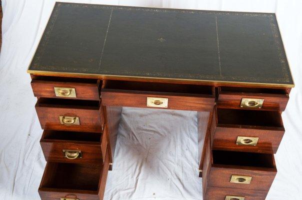 british mahogany campaign desk 2