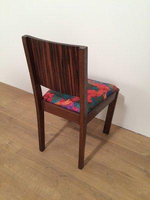 Art Deco Macassar Ebony Chairs, 1930s, Set Of 2 11