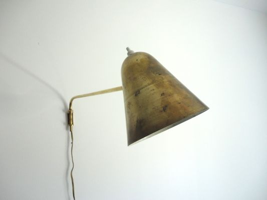 french brass swing arm wall lamp 1950s 2 brass swing arm wall