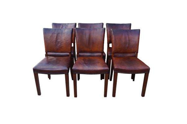 danish dining room chairjacob kjær, 1940s, set of 6 for sale