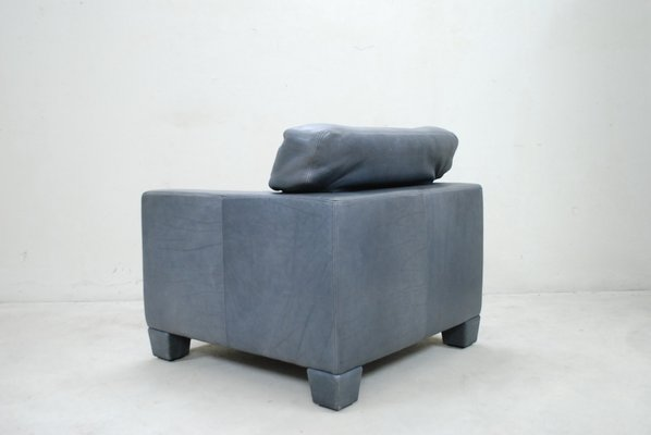 Beautiful Swiss DS 17 Grey Leather Armchair From De Sede, 1980s 13