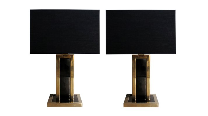 Vintage black metal brass table lamps set of 2 for sale at pamono vintage black metal brass table lamps set of 2 1 audiocablefo light catalogue