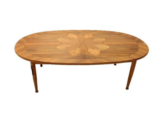Mid Century Danish Coffee Table With Marquetry, 1960s 1