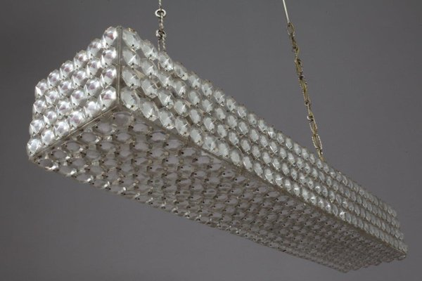 Austrian rectangular crystal chandelier from bakalowits 1970s for austrian rectangular crystal chandelier from bakalowits 1970s 2 mozeypictures Images