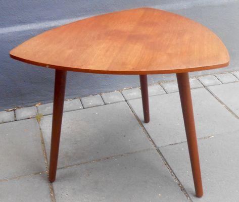 danish triangular guitar pick-shaped teak coffee table from mcm
