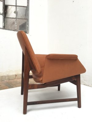 Danish Rosewood U0026 Leather Chair By Hans Olsen, 1950s 11