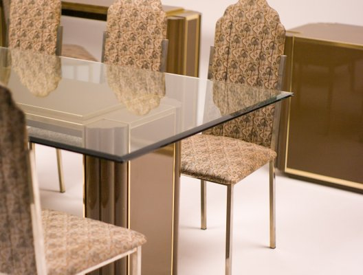 French Dining Room Set by Alain Delon for Maison Jansen, 1970s ...