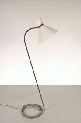 Exceptional French Curved Floor Lamp From Maison Lunel, 1950s 3
