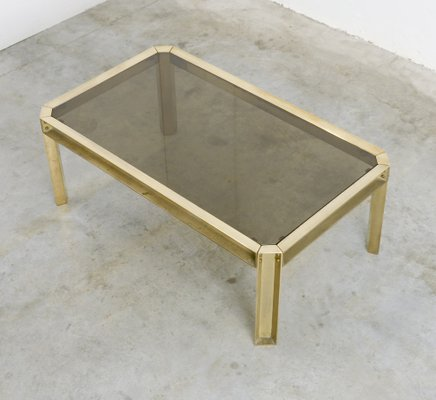 Solid Brass U0026 Smoked Glass Coffee Table, ...