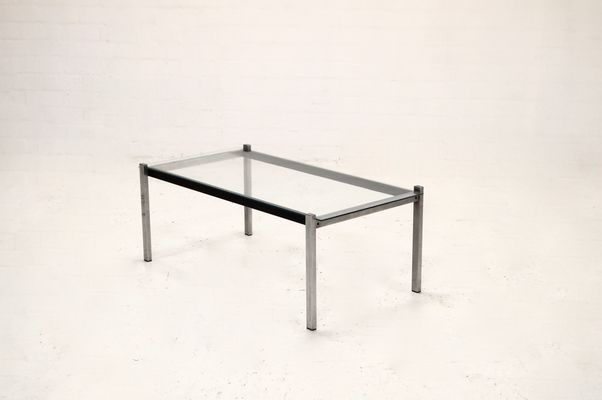 midcentury modern metal and glass coffee table 1960s 1