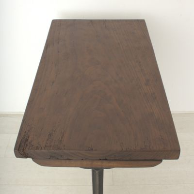 Vintage Tall Walnut Writing Table, 1920s 7