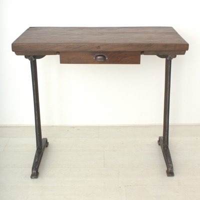 Delightful Vintage Tall Walnut Writing Table, 1920s 2
