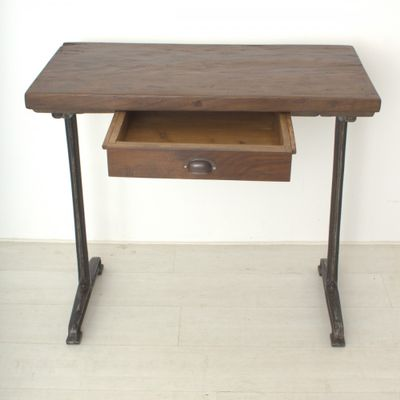 Beautiful Vintage Tall Walnut Writing Table, 1920s 6