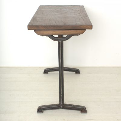 Vintage Tall Walnut Writing Table, 1920s 5