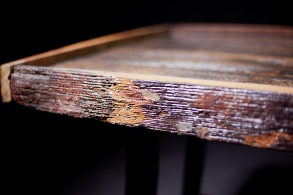Vintage Oak Barrel Table 2