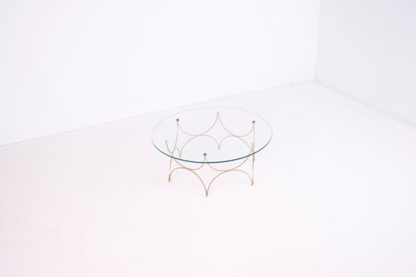 Small French Glass Coffee Table 1960s 2