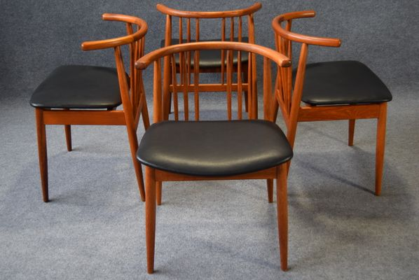 Teak dining chairs from hp hansen randers set of 4 for sale at teak dining chairs from hp hansen randers set of 4 1 sciox Choice Image