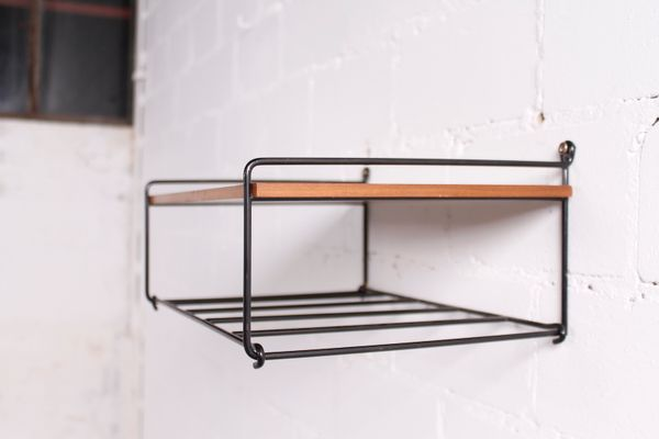 Small Metal Wall Shelf  1960s 5. Small Metal Wall Shelf  1960s for sale at Pamono
