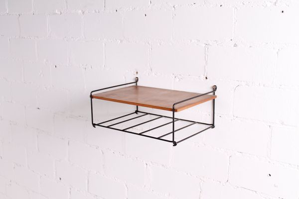 Small Metal Wall Shelf  1960s 1. Small Metal Wall Shelf  1960s for sale at Pamono