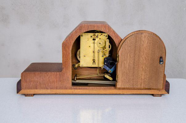 Horloge de Cheminée Art Déco, Pays-Bas, 1930s en vente sur Pamono