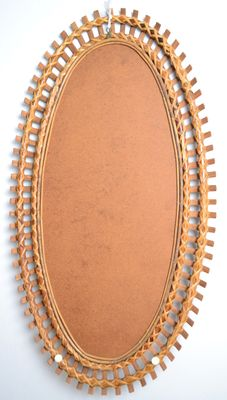 large french riviera style bamboo mirror 1950s 9