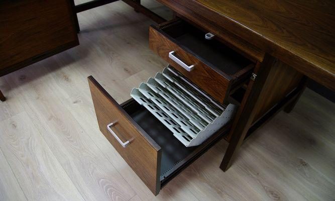 danish rosewood executive desk set 1980s 21