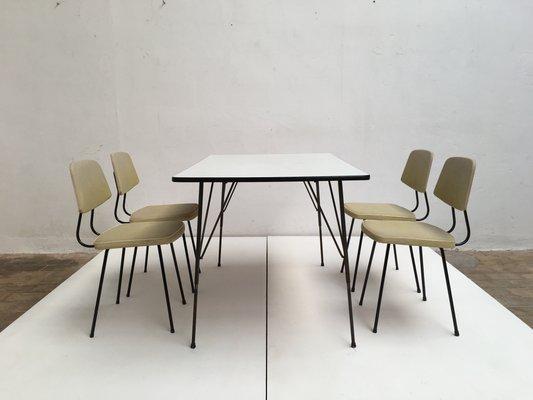 Dining Set By Rudolf Wolf For Elsrijk Steel Furniture, 1950s 1