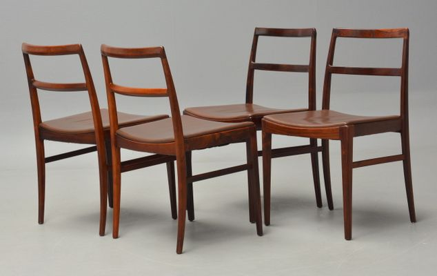 Model 430 Rosewood Dining Chairs by Arne Vodder for Sibast, 1950s ...