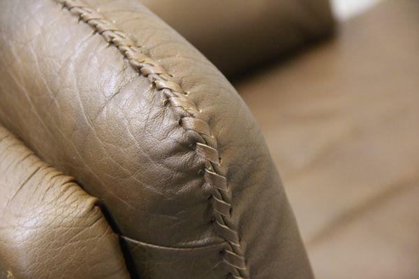 Danish Brown Buffalo Leather Sofa. Arne Norell 9