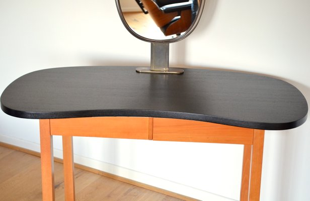 Metallmöbel vintage  Vintage Kidney Shaped Dressing Table, 1950s for sale at Pamono