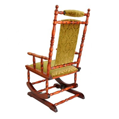 wooden rocking chair 1950s 2